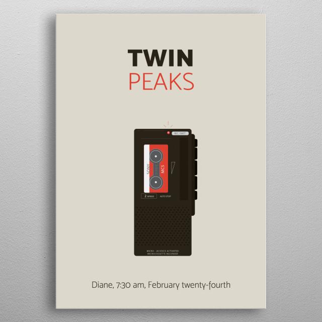 Twin Peaks, minimal poster metal poster