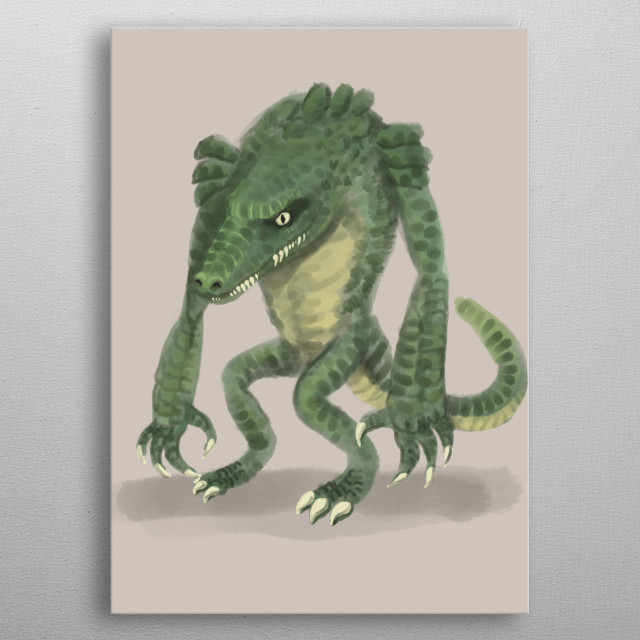 Just an unusual monster really metal poster