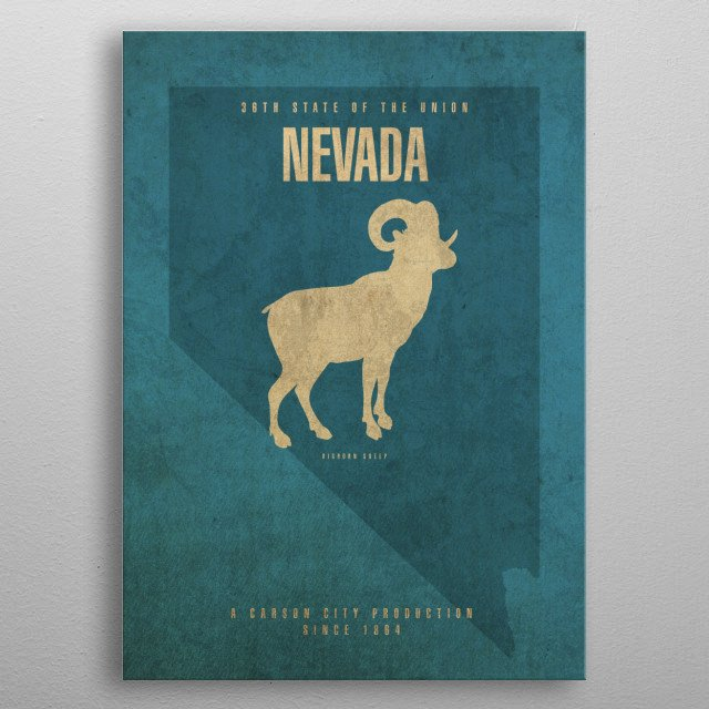 High-quality metal print from amazing Us State Facts Minimalist collection will bring unique style to your space and will show off your personality. metal poster