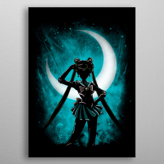 Usagi under the moon metal poster