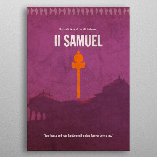 2 Samuel Book of Bible metal poster