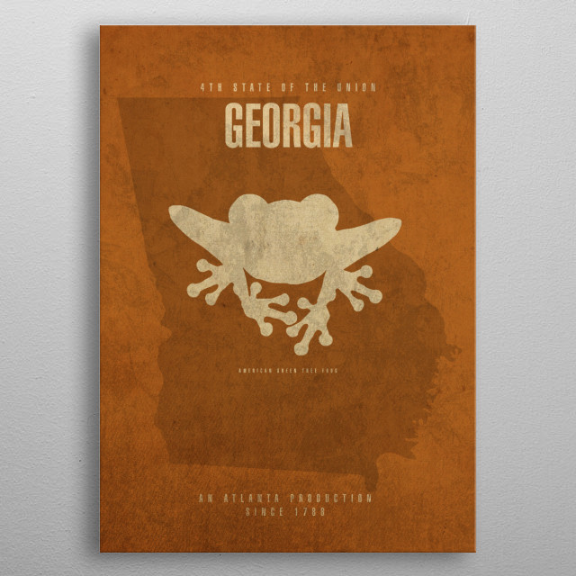Georgia State Facts metal poster