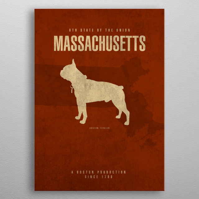 Massachusetts State Facts metal poster
