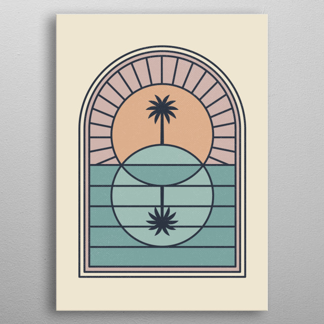 There is something sacred about the geometry of this little island in the sun! metal poster
