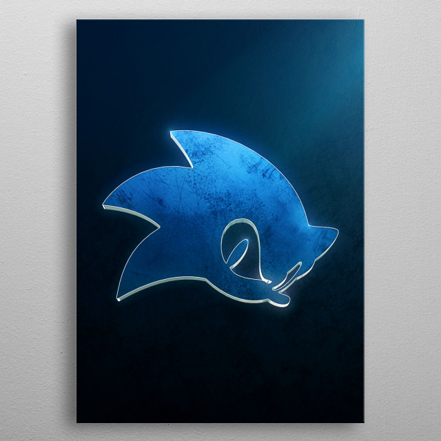 Sonic the Hedgegog metal poster