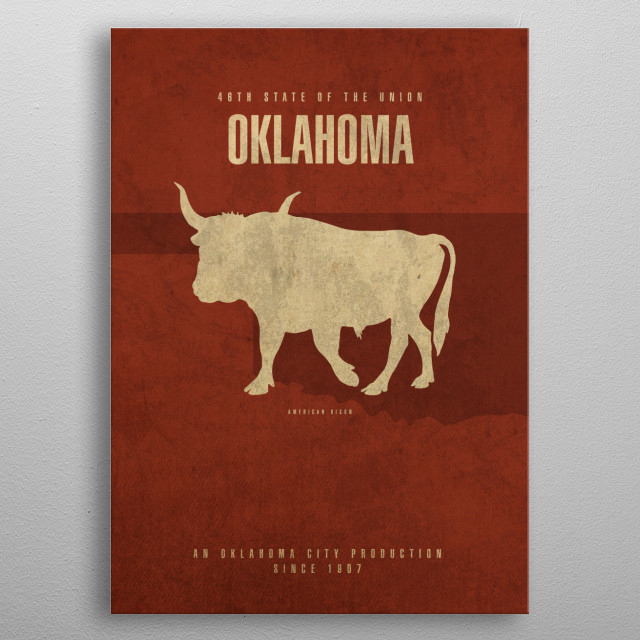 Oklahoma State Facts metal poster