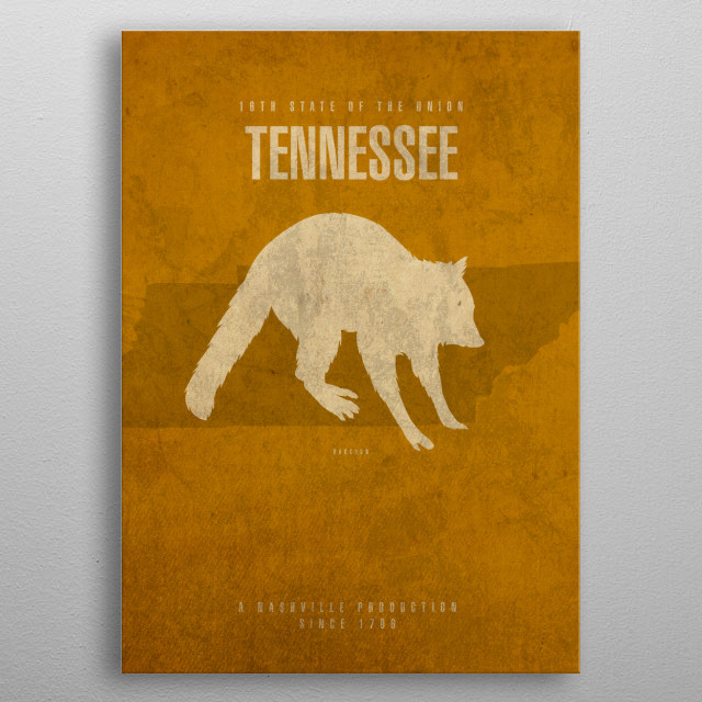 Tennessee State Facts metal poster