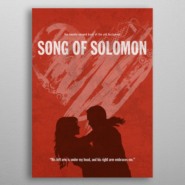 Song of Solomon Book of Bible metal poster