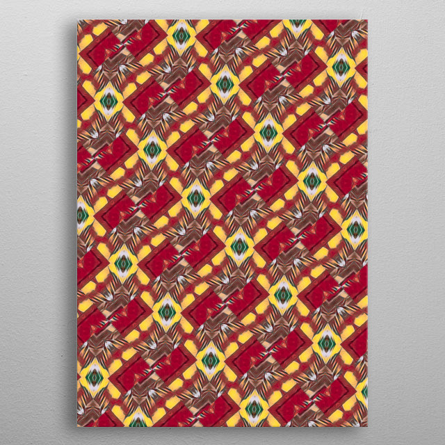 Rustic abstract pattern background metal poster