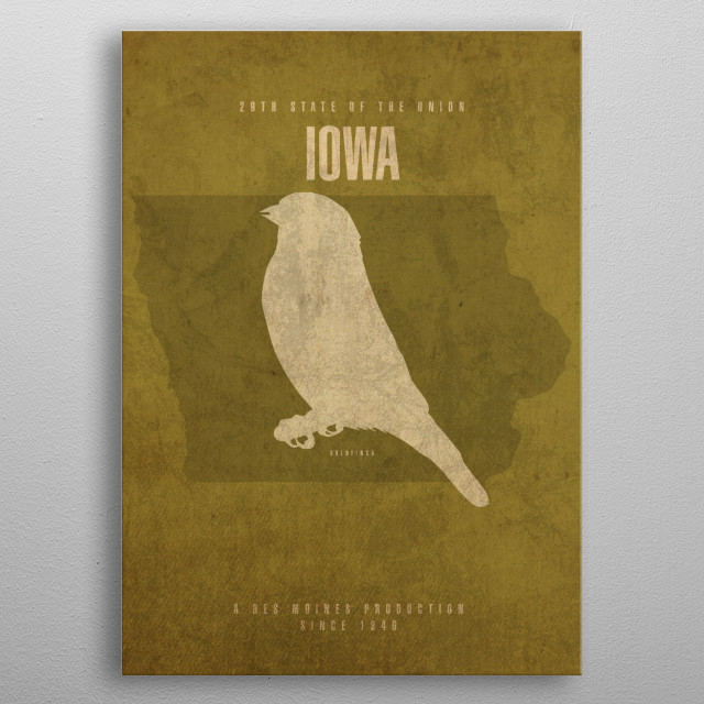 Iowa State Facts metal poster