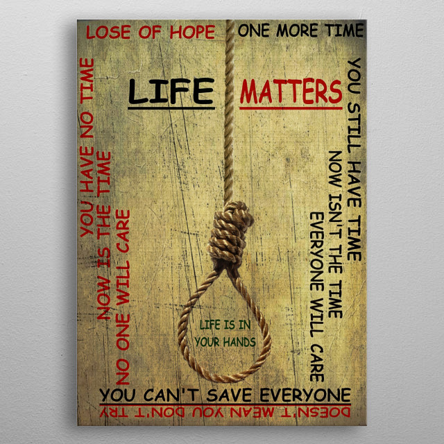 2 choices about life, we all hope to balance to one side but some people see the other metal poster
