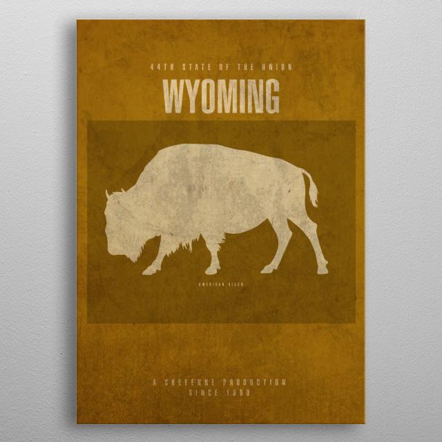 Wyoming State Facts metal poster