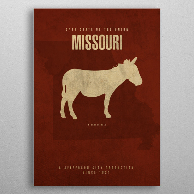 Missouri State Facts metal poster