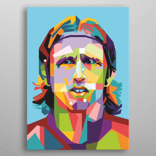 Modrić made his international debut for Croatia against Argentina in March 2006, and scored his first international goal in a friendly match metal poster