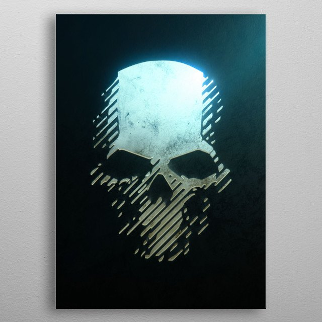 Ghost Recon metal poster