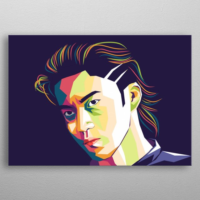 Shun Oguri ( Takiya Genji ) WPAP Illustration Design metal poster