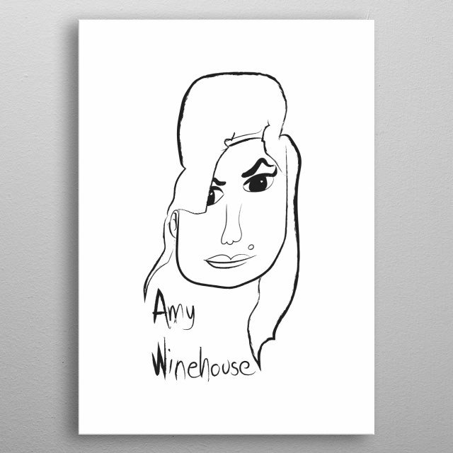 Amy Winehouse By Iva Banovic Belic Metal Posters Displate