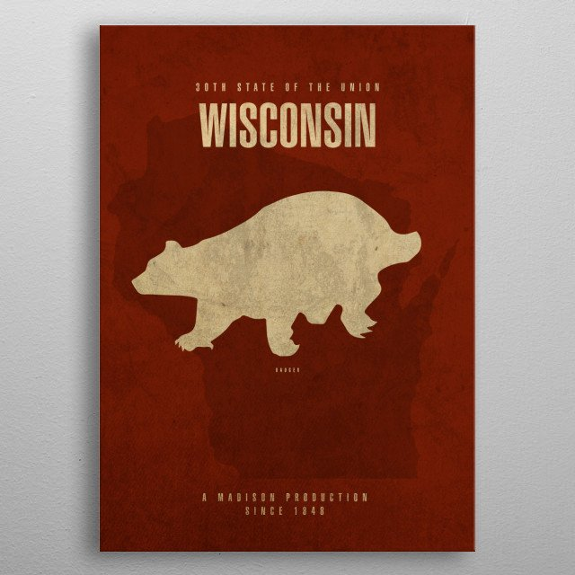Wisconsin State Facts metal poster