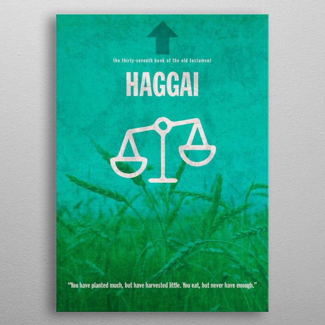 Haggai Book of Bible metal poster