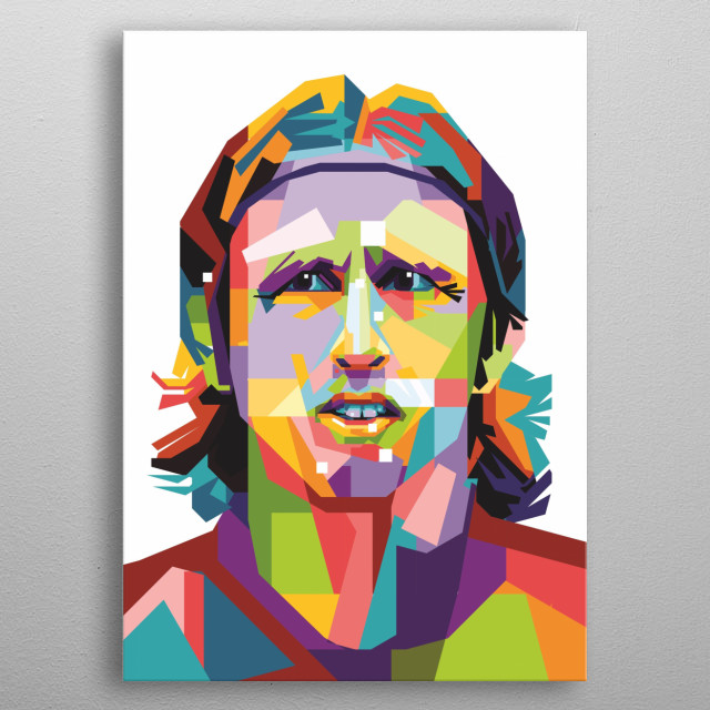 Luka Modrić was born on 9 September 1985 and was raised in the hamlet of Modrići which is a part of Zaton Obrovačk metal poster