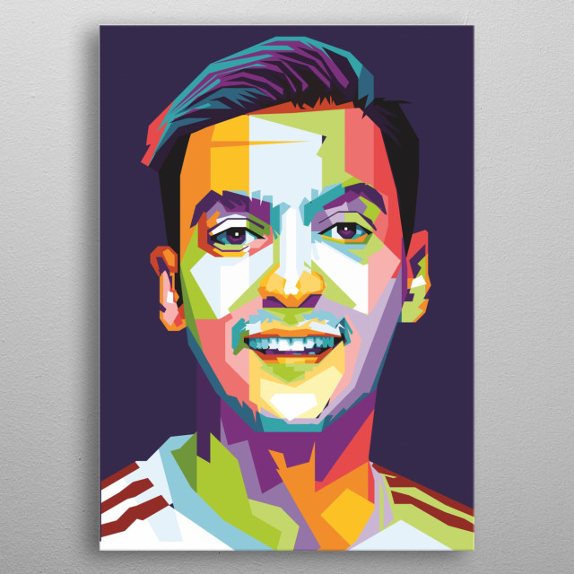 Özil was selected for Germany's squad for the 2010 FIFA World Cup in South Africa, starting in all of the team's matches metal poster