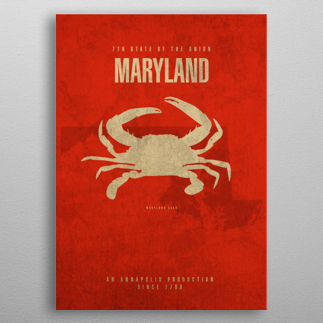 Maryland State Facts metal poster