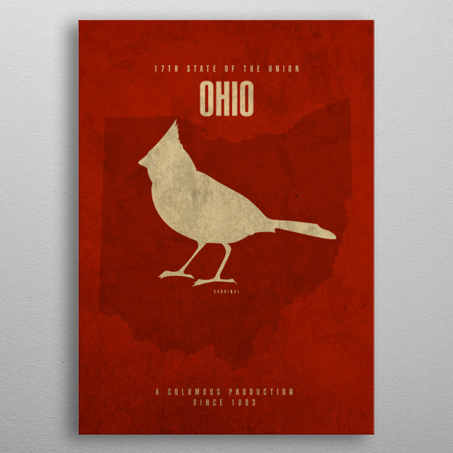 Ohio State Facts metal poster