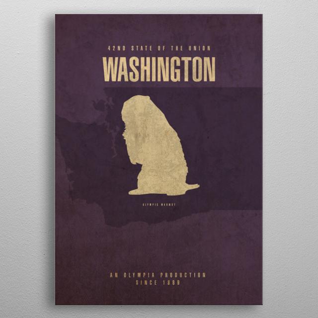 Washington State Facts metal poster