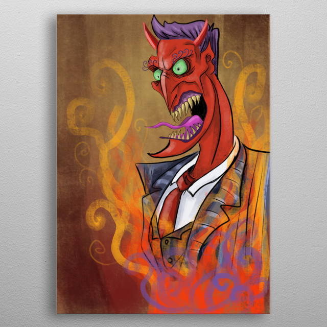 You thought your boss was bad metal poster