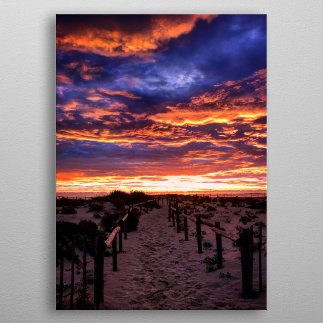 This morning we had the incredible surprise of discovering an absolutely amazing sunrise sky, with superb colorful clouds. metal poster