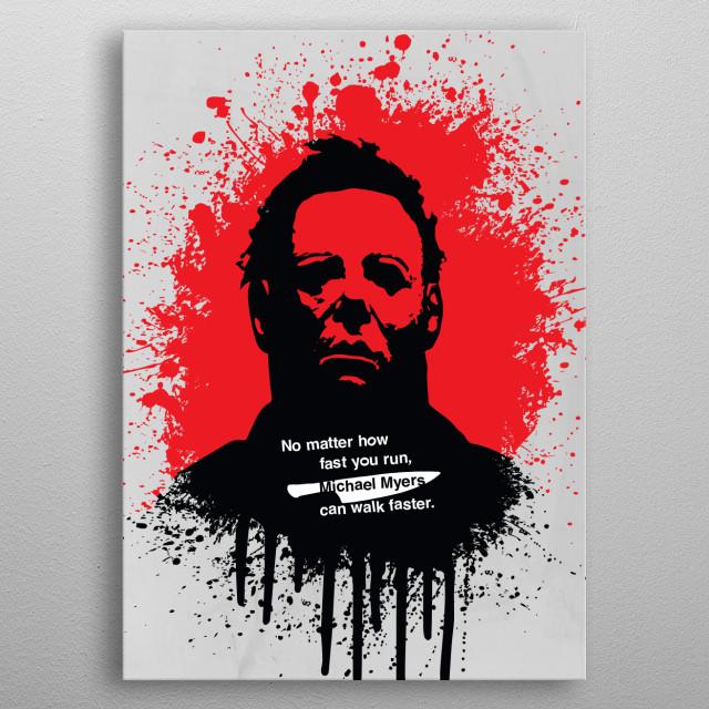 Blood splatter portrait of Michael metal poster
