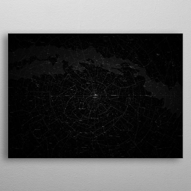 Galaxy Map metal poster