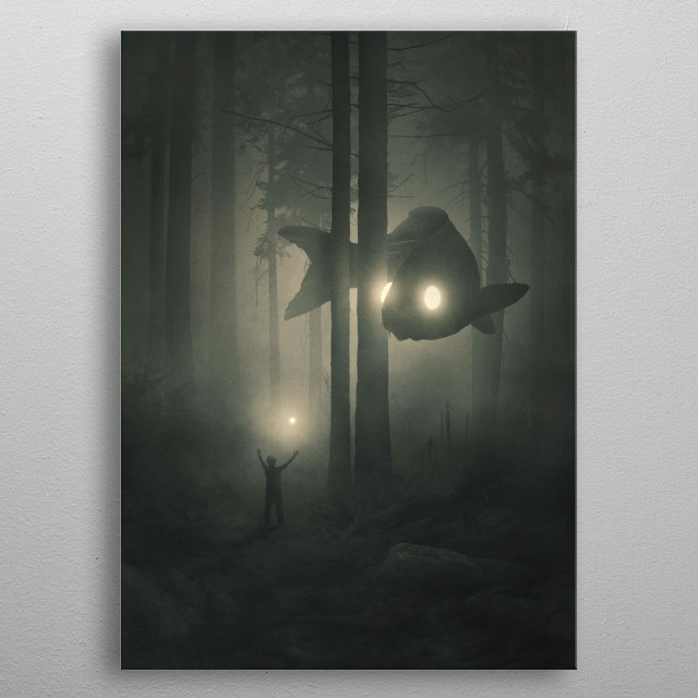"""""""Never go into the deep parts of the forest, for there are many dangers there, and they will ensnare your soul.""""  ― Robert Beatty metal poster"""