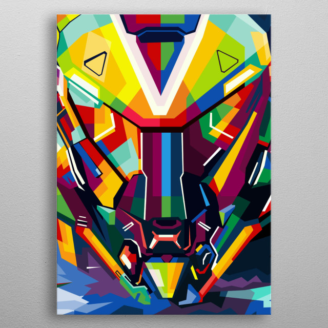 Inspired to make an illustration with 3 printed prints later metal poster