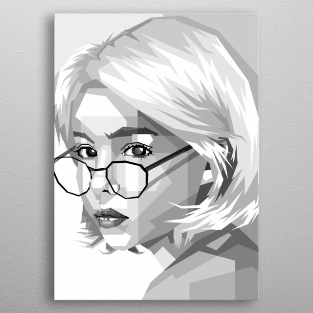 women's design with pop art style metal poster