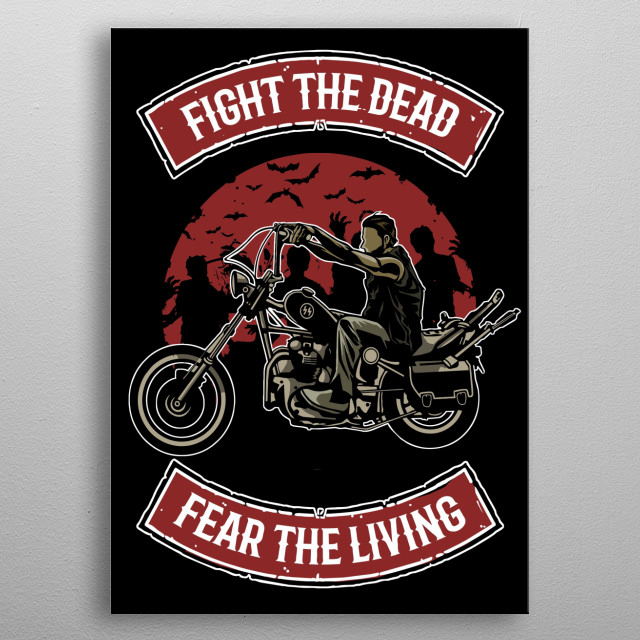 Fight The Dead painting. metal poster