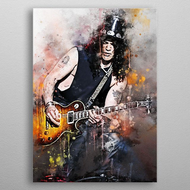 Saul Hudson, famous for his stage name, Slash, is an English-American musician and songwriter. He is best known as the guitarist for rock metal poster