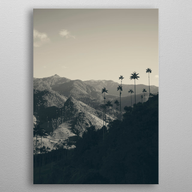 Colombia – place of beautiful landscapes and spectacular nature. metal poster