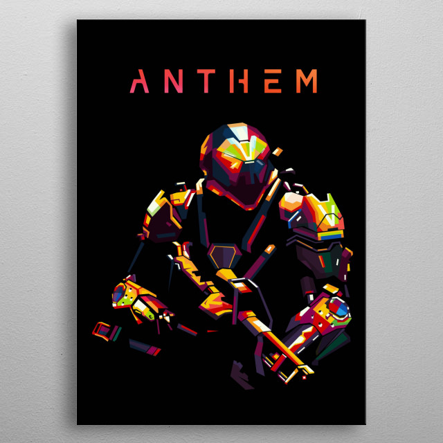 Inspired by the anthem Javelin to make the WPAP metal poster
