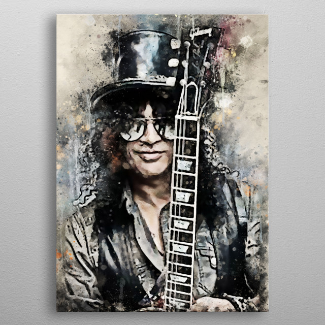Saul Hudson, famous for his stage name, Slash, is an English-American musician and songwriter metal poster