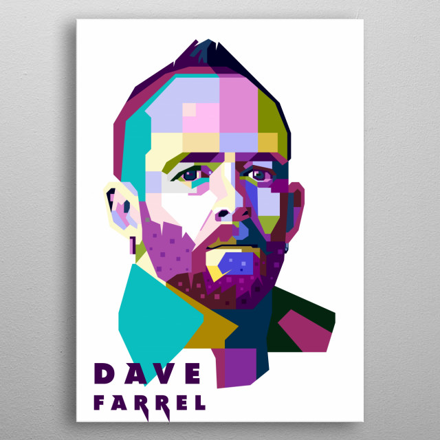 This artwork is inspired by the bassist of Linkin Park, Dave Farrel. metal poster
