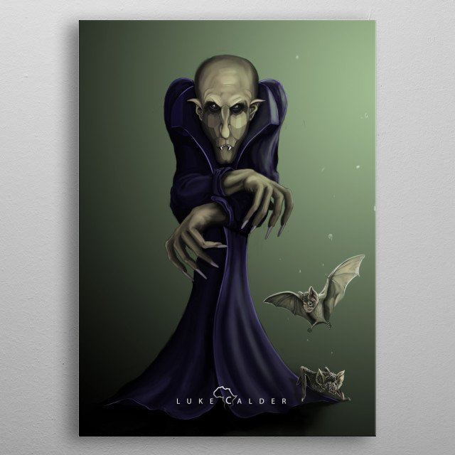 Fweddy had always had a lisp growing up, it didn't help things when he became a vampire and grew long fangs. metal poster