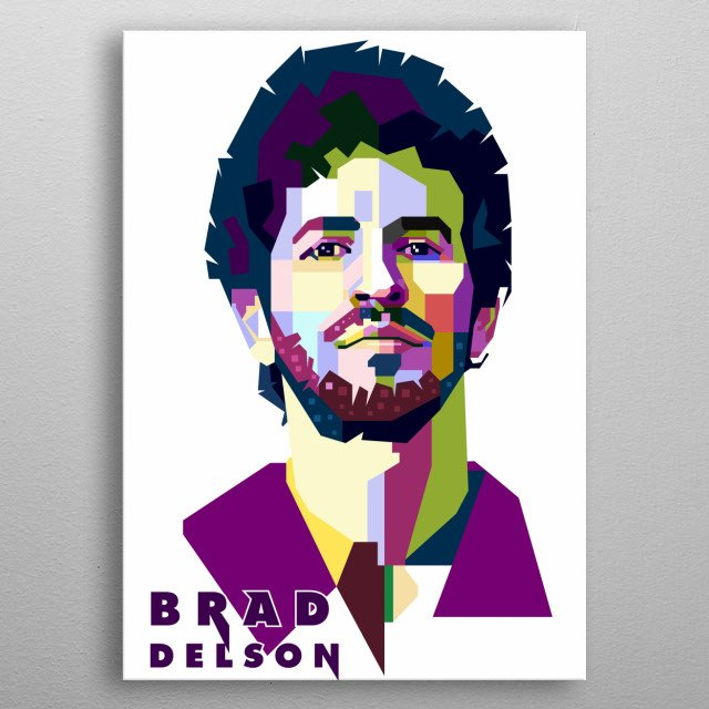 This artwork is inspired by deumer of Linkin Park, Brad Delson. metal poster