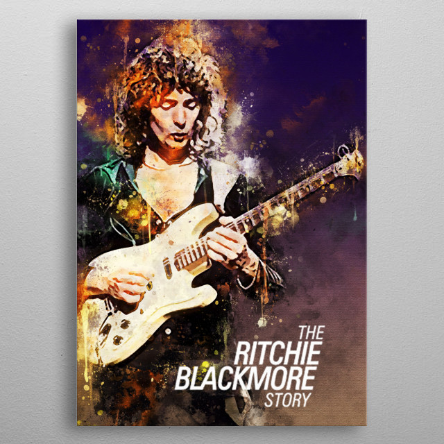 Richard Hugh Ritchie Blackmore is an English guitarist and singer. He is a member of the Deep Purple and Rainbow music group. metal poster