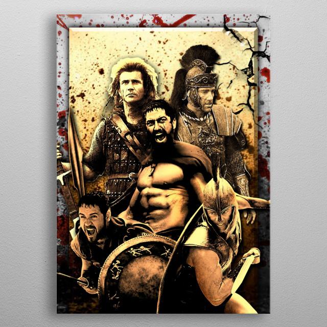 Warriors metal poster