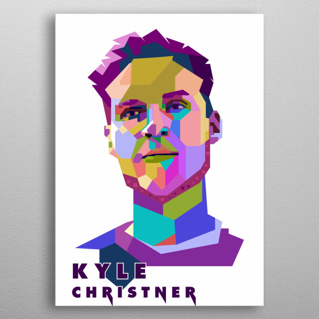 This artwork is inspired by Ex-bassist of Linkin Park, Kyle Christner. metal poster