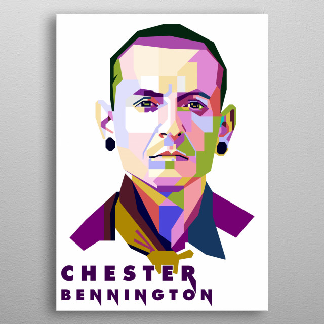 This artwork is inspired by the vocalist of Linkin Park, Chester Bennington metal poster