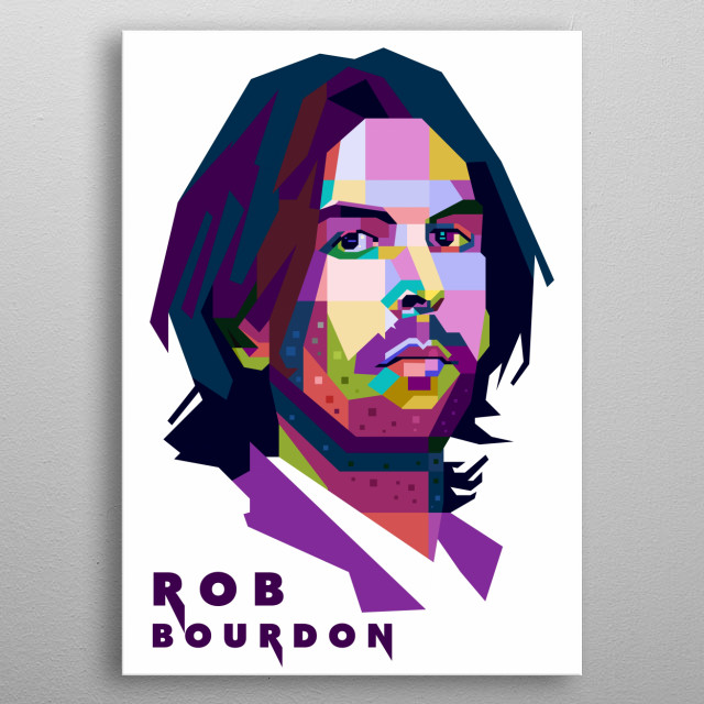 This artwork is inspired by talented drummer of Linkin Park, Rob Bourdon. metal poster