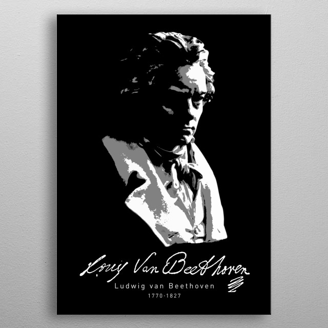 Ludwig van Beethoven, Classical Music-Piano  metal poster