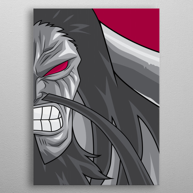 Illustration of Kaido, the general of the Beasts Pirates and one of the Yonko. metal poster